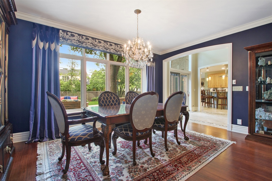 Real Estate Photography - 906 Queens, Glenview, IL, 60025 - Dining Room