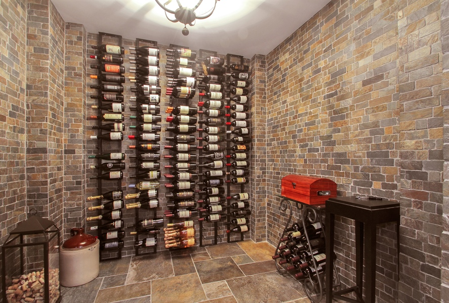 Real Estate Photography - 906 Queens, Glenview, IL, 60025 - Wine Cellar