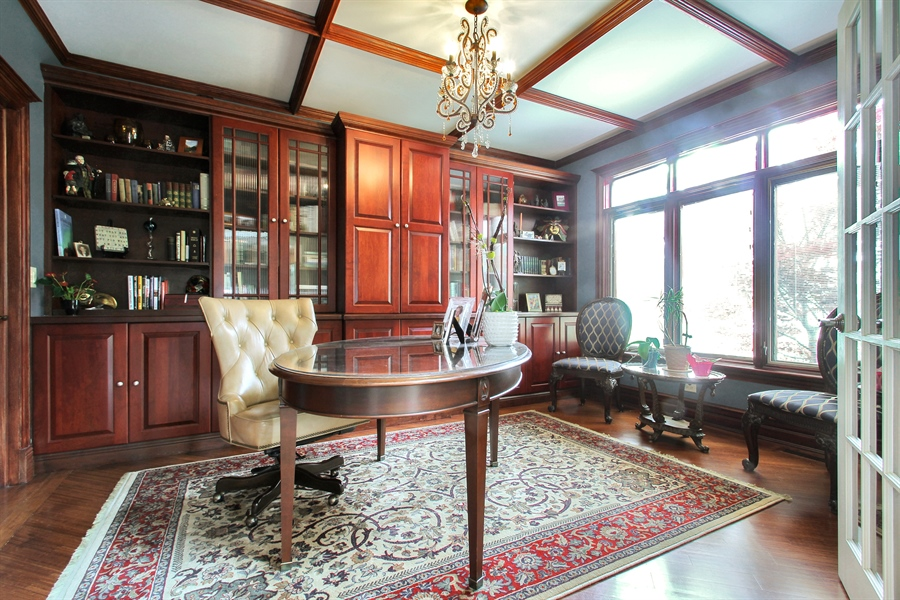 Real Estate Photography - 906 Queens, Glenview, IL, 60025 - First Floor Bedroom/ Library