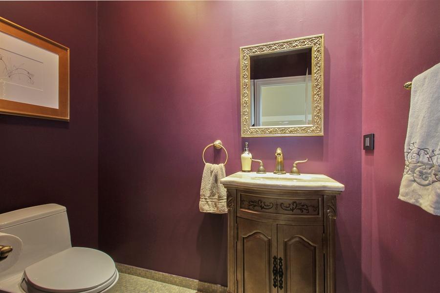 Real Estate Photography - 906 Queens, Glenview, IL, 60025 - Half Bath