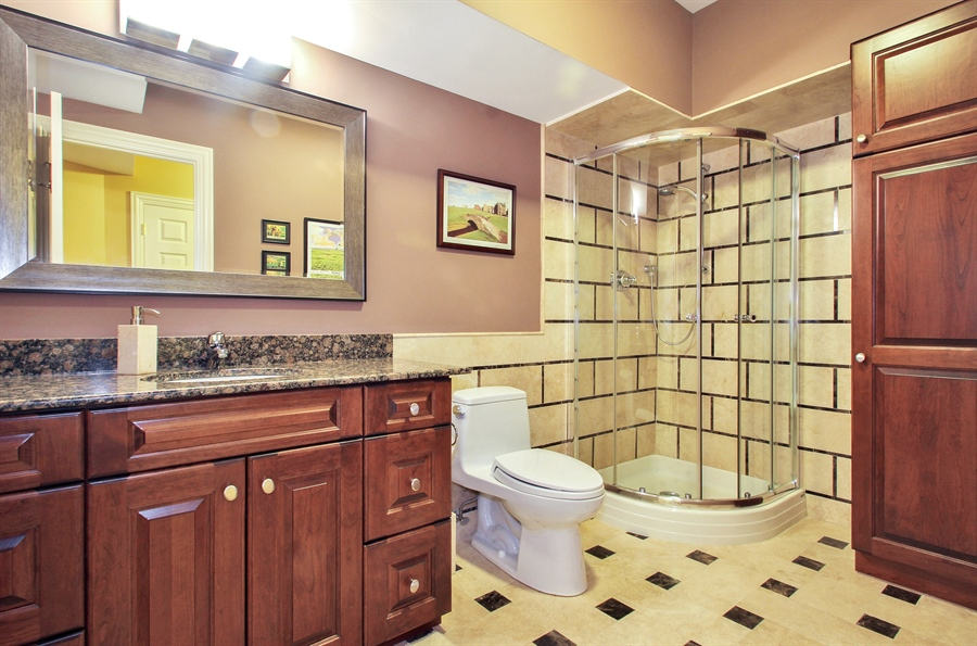Real Estate Photography - 906 Queens, Glenview, IL, 60025 - Basement Bathroom