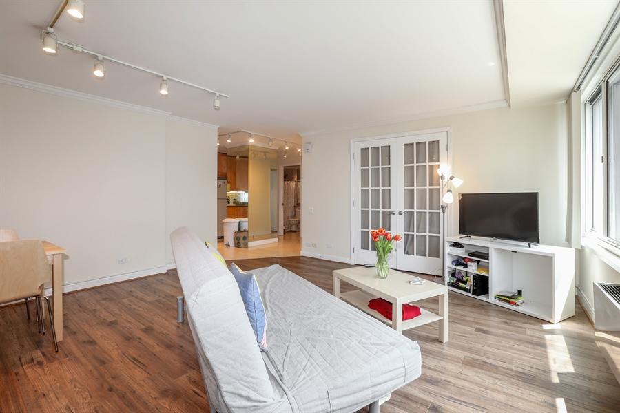 Real Estate Photography - 211 E Ohio, 2418, Chicago, IL, 60611 - Living Room