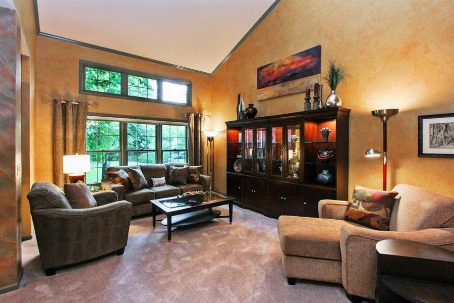 Real Estate Photography - 1191 Rodgers Lane, Lake Zurich, IL, 60047 - Living Room