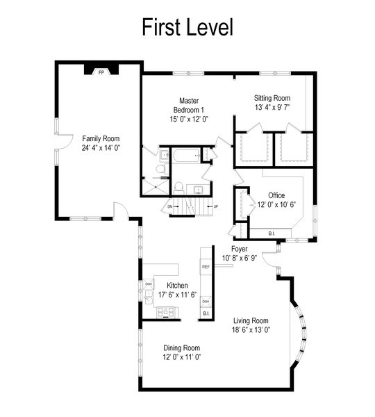 Real Estate Photography - 505 E Atwood Ct., Elmhurst, IL, 60103 - Floor Plan