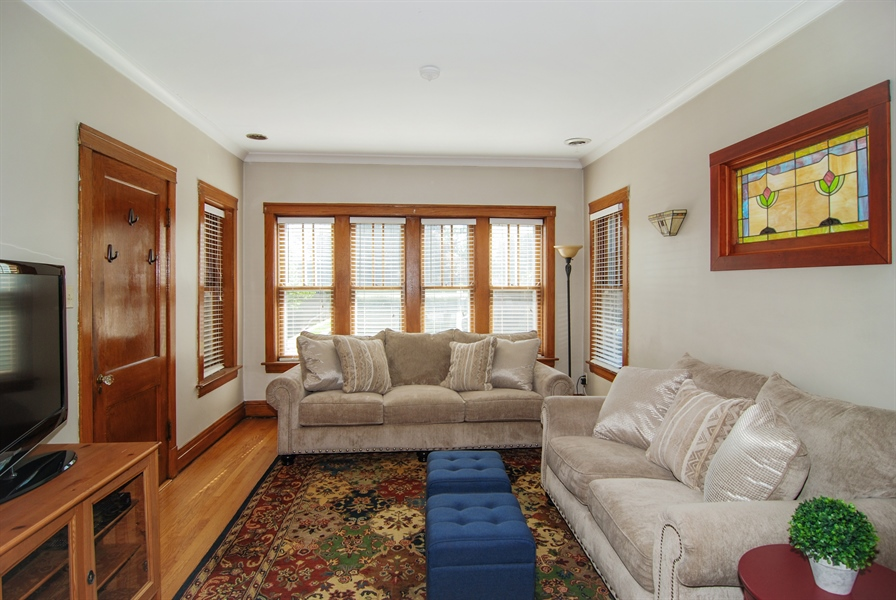 Real Estate Photography - 2428 Scoville, Berwyn, IL, 60402 - Living Room