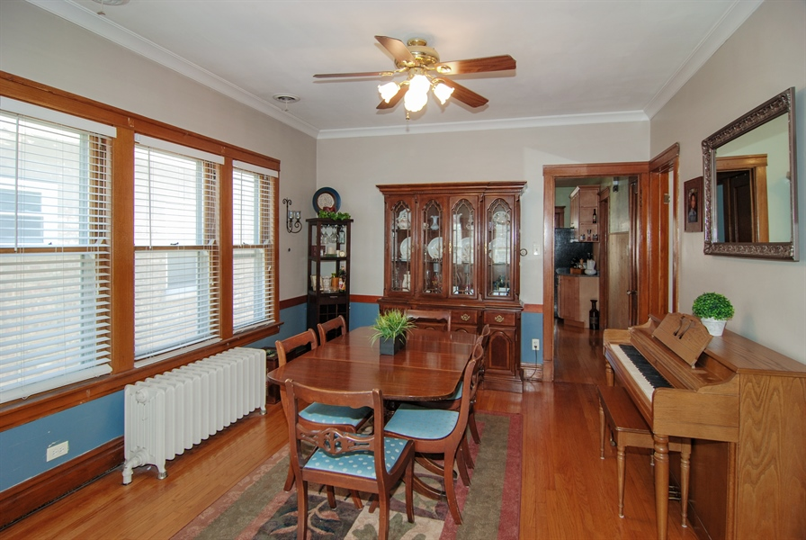 Real Estate Photography - 2428 Scoville, Berwyn, IL, 60402 - Dining Room