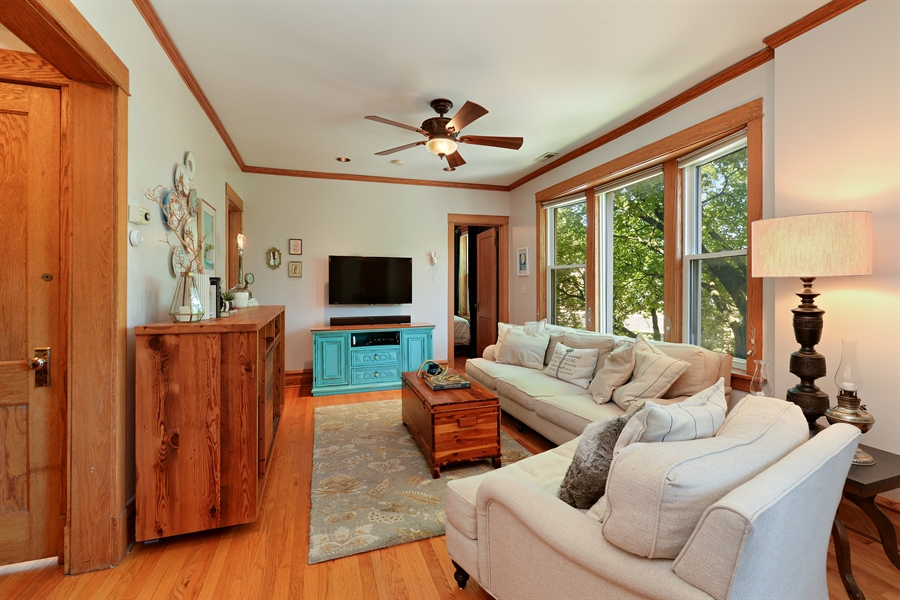 Real Estate Photography - 3340 N. Paulina, 3, Chicago, IL, 60657 - Living Room