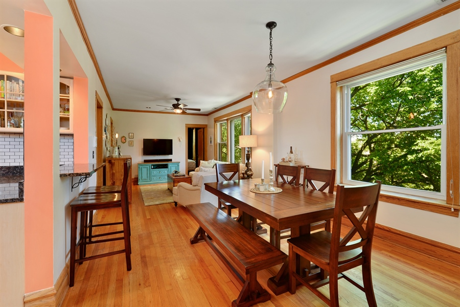 Real Estate Photography - 3340 N. Paulina, 3, Chicago, IL, 60657 - Living Room / Dining Room