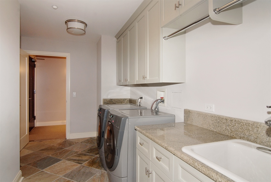 Real Estate Photography - 520 S Washington, Unit Penthouse 03, Naperville, IL, 60540 - Laundry Room