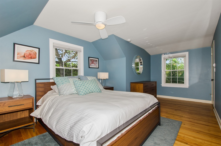 Real Estate Photography - 1207 Raleigh, Glenview, IL, 60025 - Master Bedroom