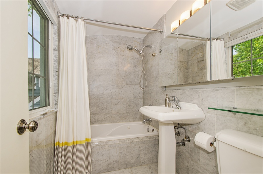 Real Estate Photography - 1207 Raleigh, Glenview, IL, 60025 - 2nd Floor Full Bath