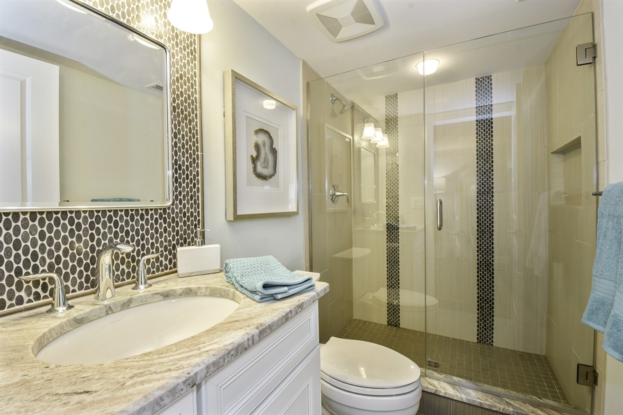 Real Estate Photography - 6 Arches Ct., South Barrington, IL, 60010 - 3rd Bathroom