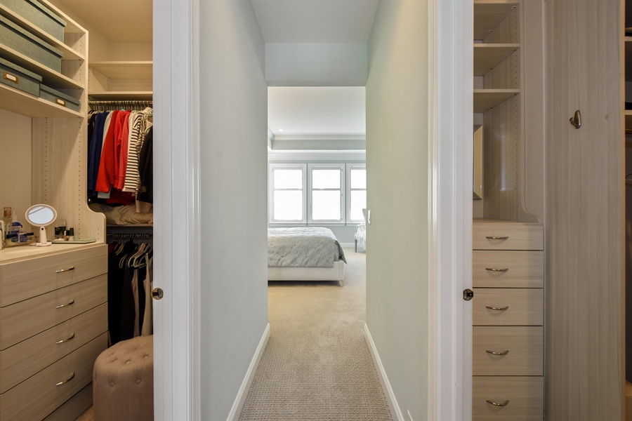 Real Estate Photography - 6 Arches Ct., South Barrington, IL, 60010 - Master Bedroom Closet