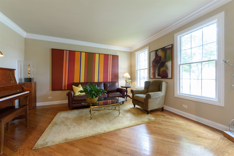 Real Estate Photography - 1202 N Mitchell, Arlington Heights, IL, 60004 - Living Room