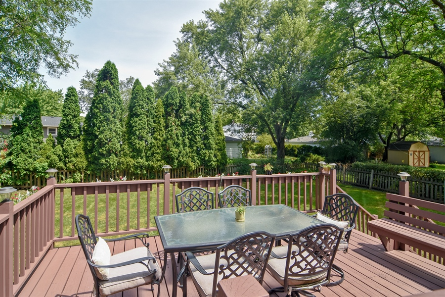 Real Estate Photography - 4458 Hoover, Rolling Meadows, IL, 60008 - Deck