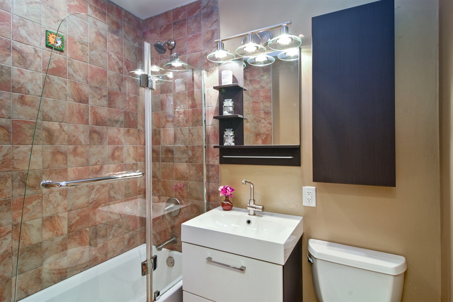 Real Estate Photography - 4458 Hoover, Rolling Meadows, IL, 60008 - Bathroom