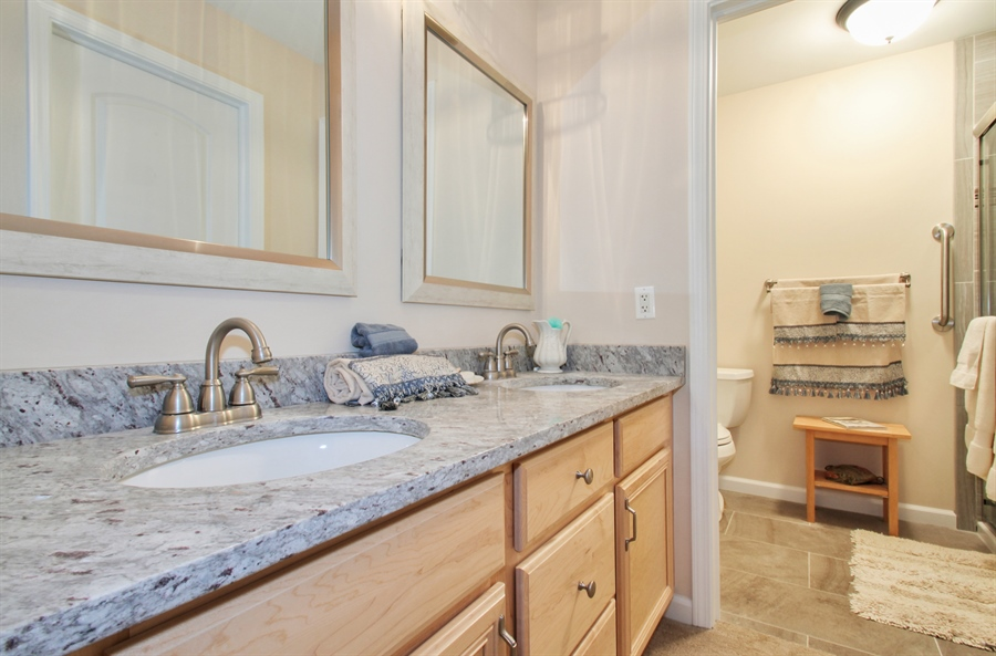 Real Estate Photography - 1403 Estate Lane, Glenview, IL, 60025 - Master Bathroom