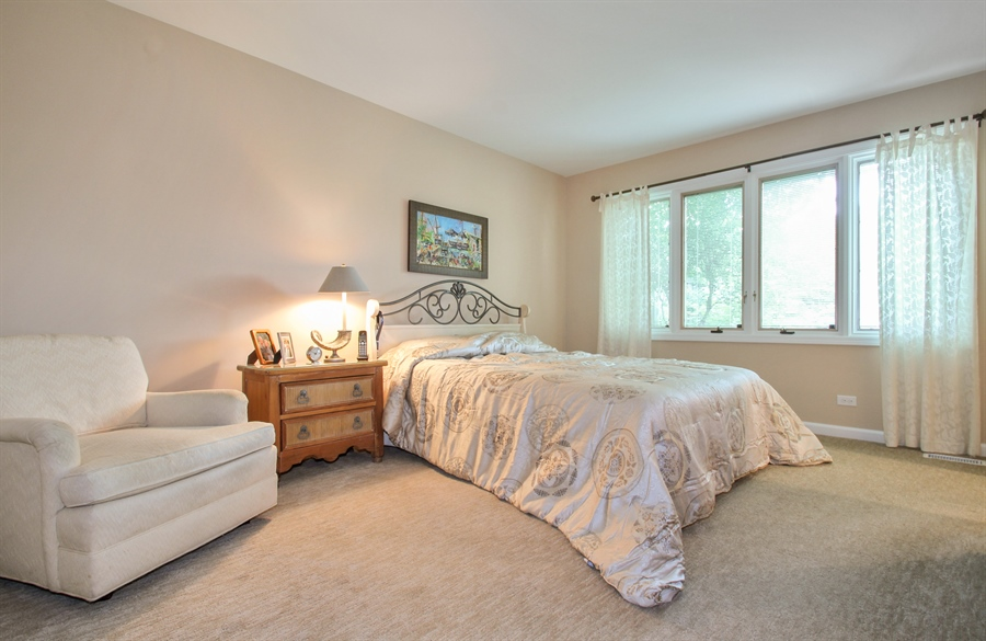 Real Estate Photography - 1403 Estate Lane, Glenview, IL, 60025 - Master Bedroom