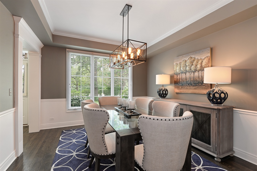 Real Estate Photography - 1435 N McKinley, Lake Forest, IL, 60045 - Dining Room
