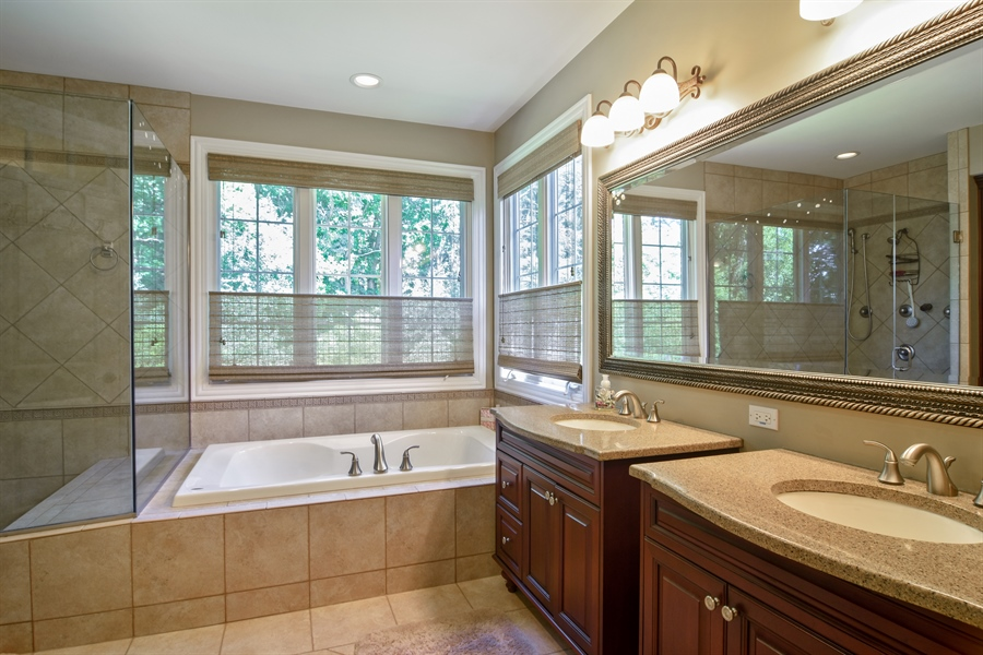 Real Estate Photography - 1561 Pendelton Court, Palatine, IL, 60067 - Master Bathroom