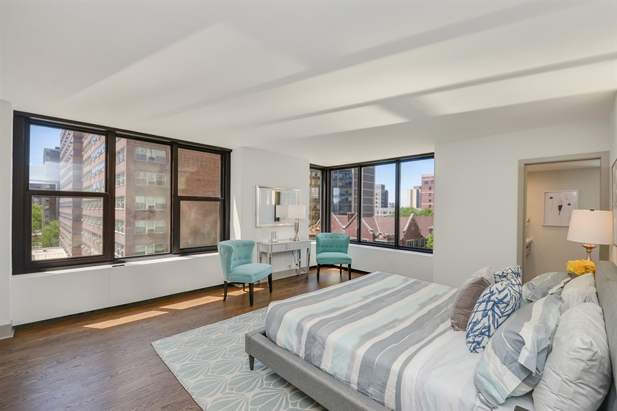 Real Estate Photography - 3150 N Lake Shore Drive, Apt 7F, Chicago, IL, 60657 - Master Bedroom
