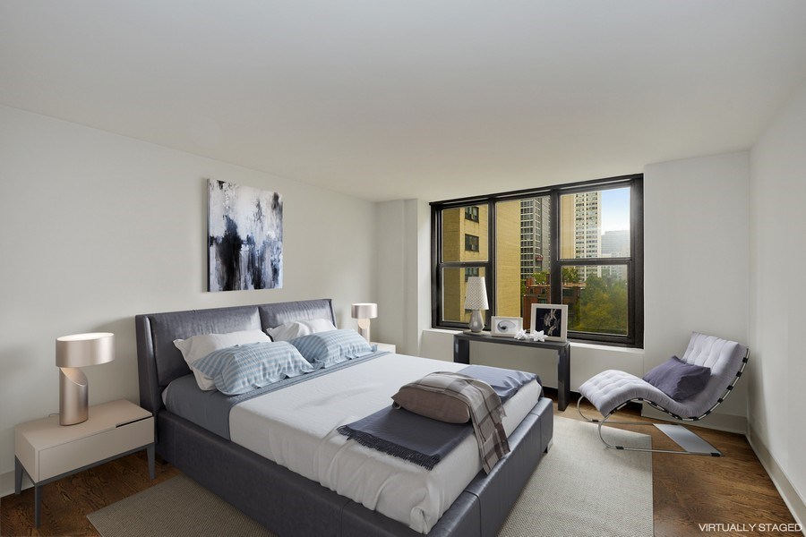 Real Estate Photography - 3150 N Lake Shore Drive, Apt 7F, Chicago, IL, 60657 - Bedroom