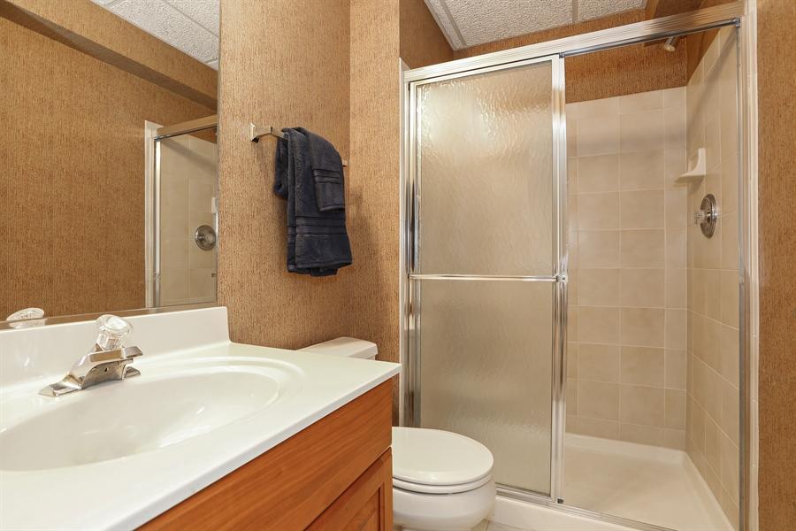 Real Estate Photography - 108 Santa Fe Lane, Willow Springs, IL, 60480 - Basement Bathroom