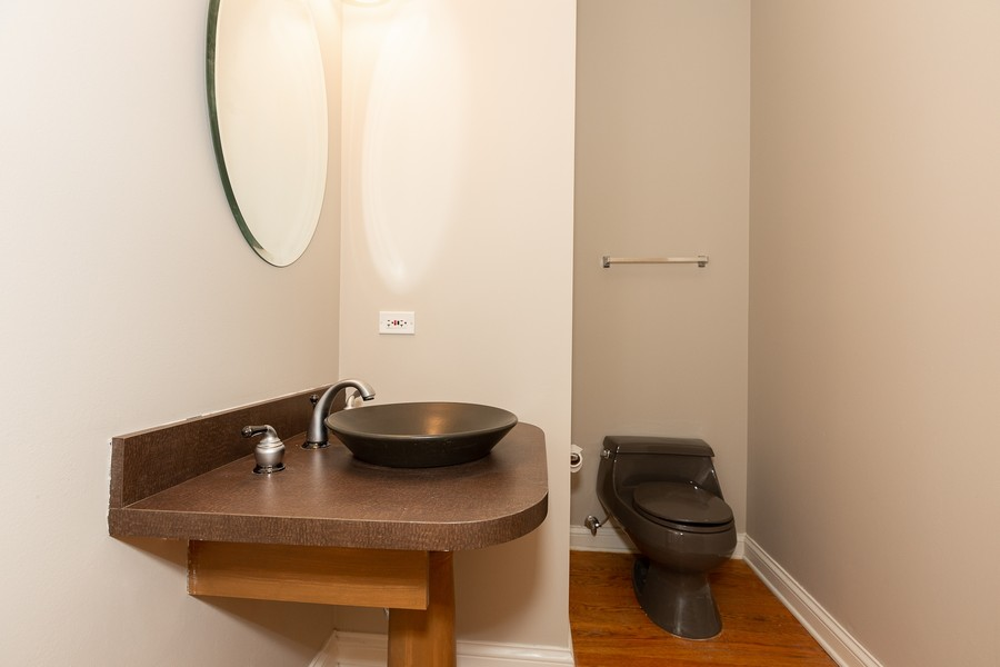 Real Estate Photography - 108 Santa Fe Lane, Willow Springs, IL, 60480 - Powder Room