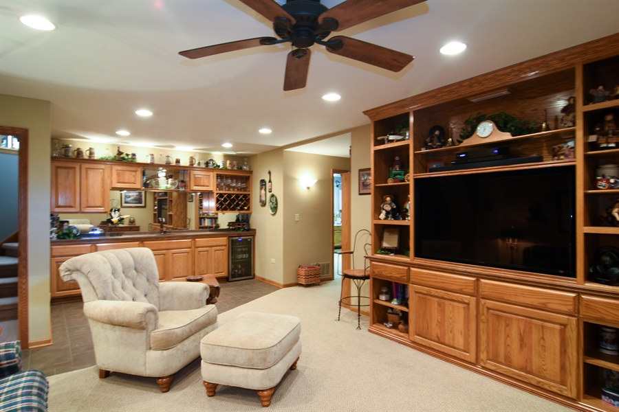 Real Estate Photography - 3614 Killarney Ct, Rolling Meadows, IL, 60008 - Family Room in Basement