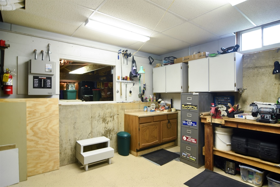 Real Estate Photography - 3614 Killarney Ct, Rolling Meadows, IL, 60008 - Workshop and Finished Crawl Space for Storage
