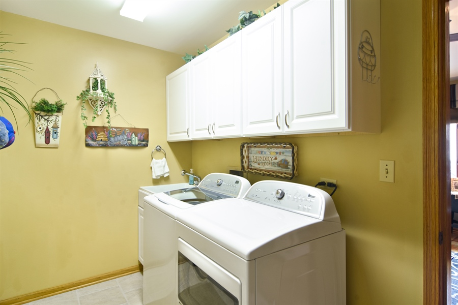 Real Estate Photography - 3614 Killarney Ct, Rolling Meadows, IL, 60008 - Main Floor Laundry Room