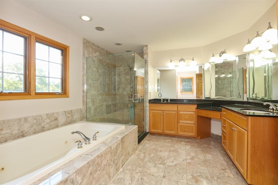 Real Estate Photography - 1204 Richmond Ave., Westmont, IL, 60559 - Master Bathroom