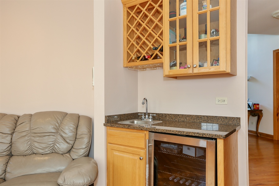 Real Estate Photography - 1204 Richmond Ave., Westmont, IL, 60559 - Family Room Bar Area