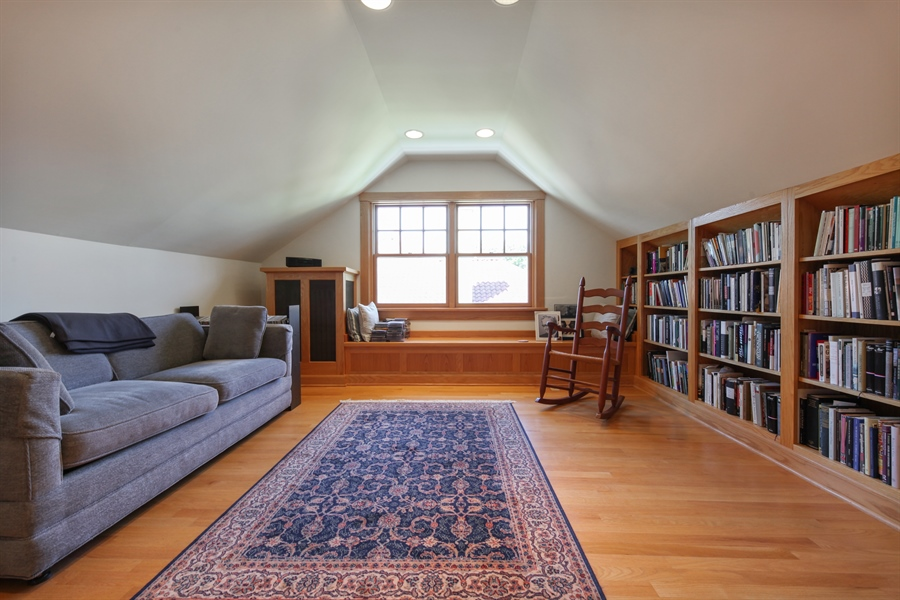 Real Estate Photography - 2306 Lincolnwood Dr, Evanston, IL, 60201 - Library