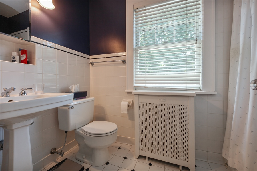 Real Estate Photography - 2306 Lincolnwood Dr, Evanston, IL, 60201 - 2nd Bathroom