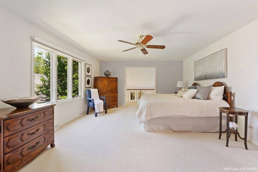 Real Estate Photography - 250 Wyngate, Barrington, IL, 60010 - Elegance & Comfort in Your Master Bedroom with Bal