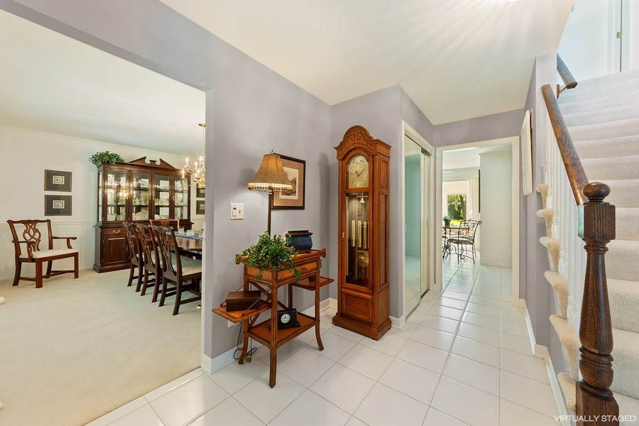 Real Estate Photography - 250 Wyngate, Barrington, IL, 60010 - Open & Bright Foyer