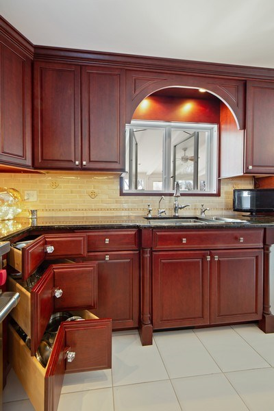 Real Estate Photography - 250 Wyngate, Barrington, IL, 60010 - A 3-Drawer Pull-Out Lazy Susan