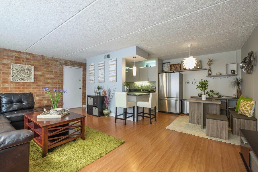 Real Estate Photography - 2024 Saint Johns Ave, 302, Highland Park, IL, 60035 - Living Room / Dining Room