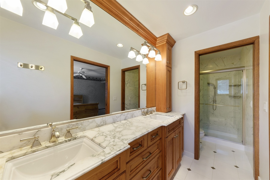 Real Estate Photography - 3420 Richnee Lane, Rolling Meadows, IL, 60008 - Master Bathroom