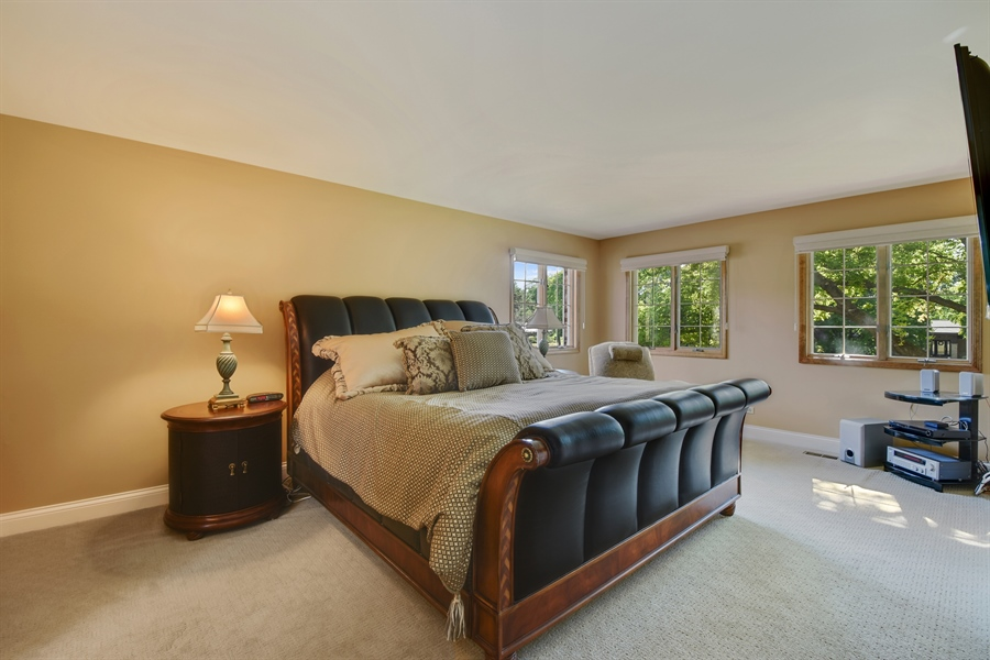 Real Estate Photography - 2538 Shenandoah Lane, Long Grove, IL, 60047 - Master Bedroom