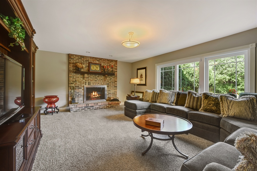 Real Estate Photography - 2538 Shenandoah Lane, Long Grove, IL, 60047 - Family Room
