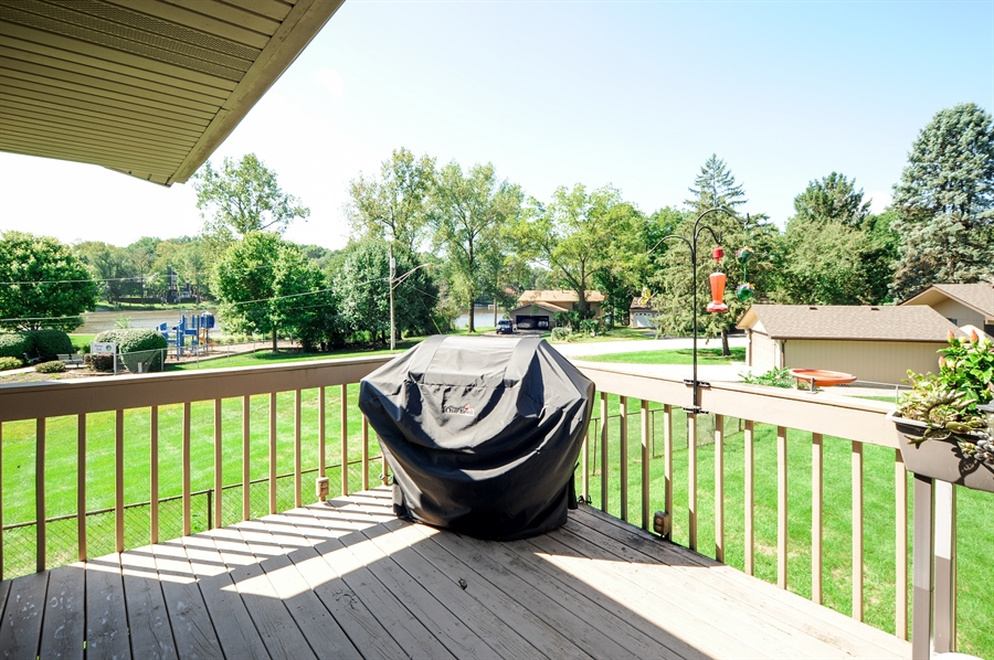 Real Estate Photography - 505 Mohican Trl, Lake in the Hills, IL, 60156 - Balcony