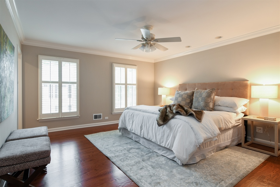 Real Estate Photography - 905 Westerfield Drive, Wilmette, IL, 60091 - Master Bedroom