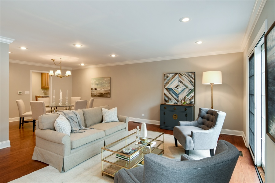 Real Estate Photography - 905 Westerfield Drive, Wilmette, IL, 60091 - Living Room / Dining Room