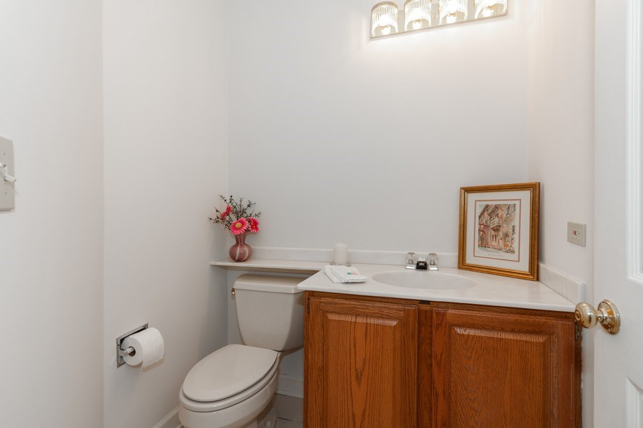 Real Estate Photography - 44 Thornhill Ct, Burr Ridge, IL, 60527 - Powder Room