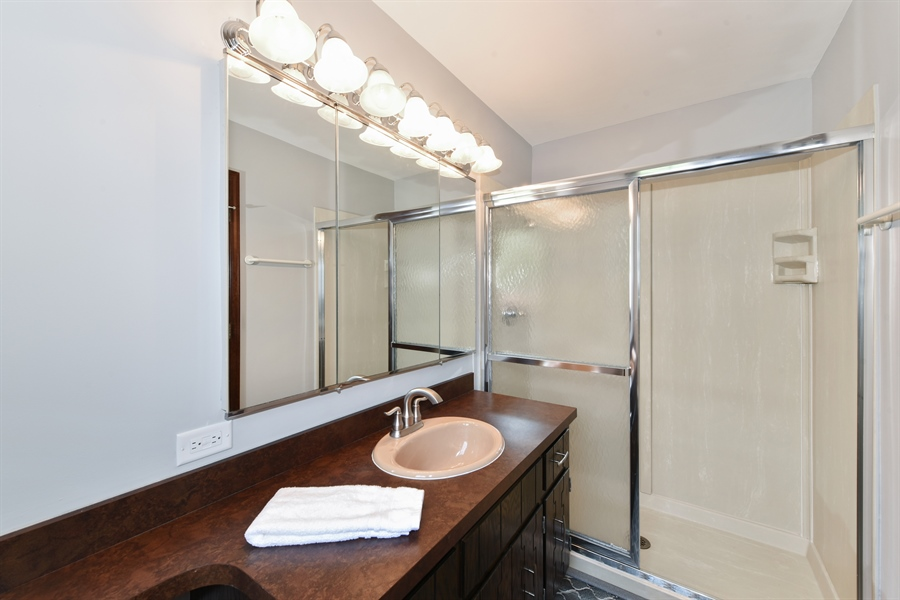 Real Estate Photography - 1212 Barneswood, Downers Grove, IL, 60515 - Master Bathroom