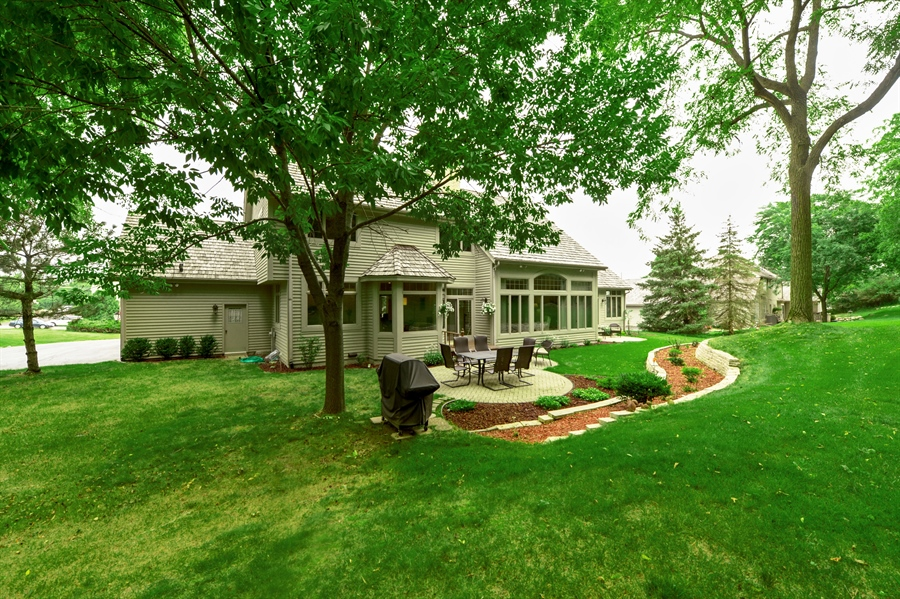 Real Estate Photography - n17w30595 woodland hill drive, delafield, WI, 53018 - Back Yard