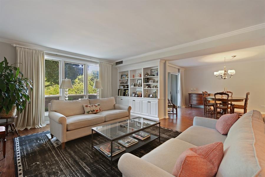 Real Estate Photography - 630 Winnetka Mews, Winnetka, IL, 60093 - Living Room / Dining Room