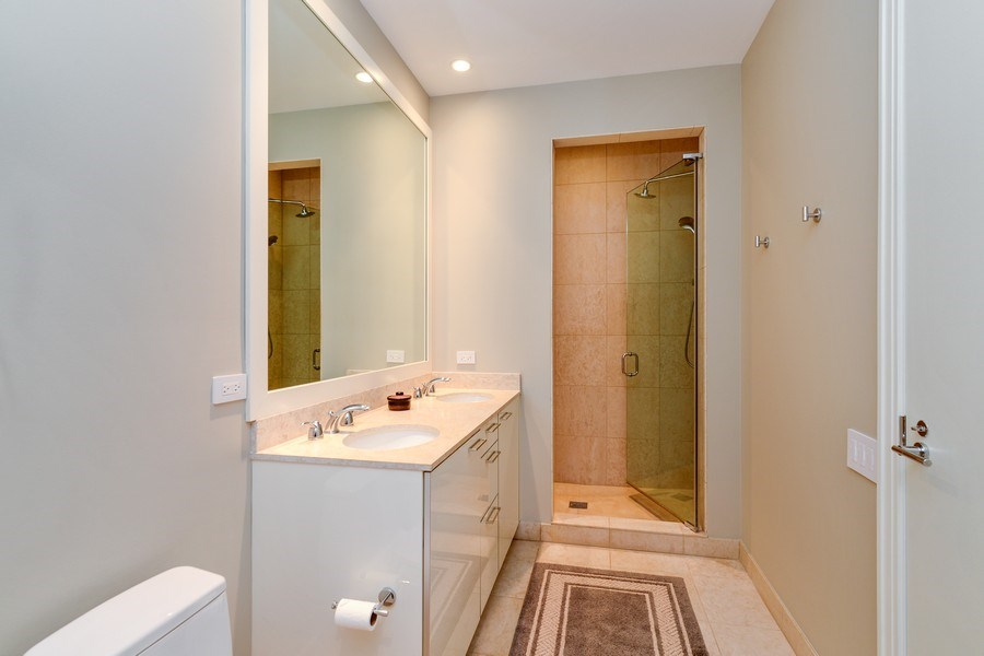 Real Estate Photography - 30 W Oak St, 6F, Chicago, IL, 60610 - Master Bathroom